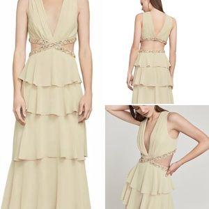 Bcbgmaxazria thassia bead trim gown dress NWT 6